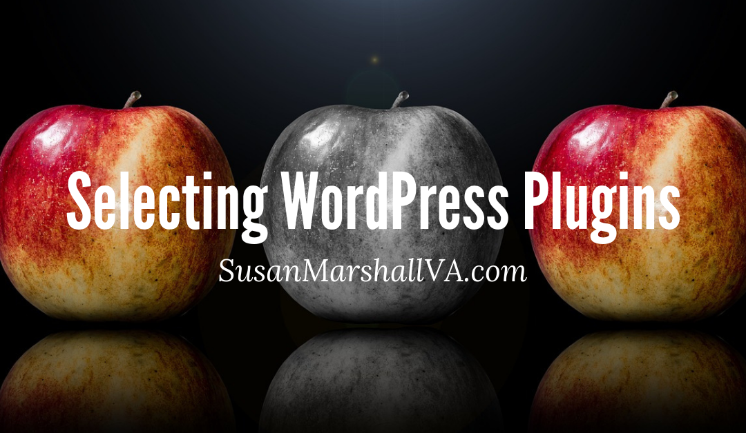 selecting wordpress plugins